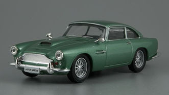 Aston Martin DB4 coupe зеленый (DeAgostini)